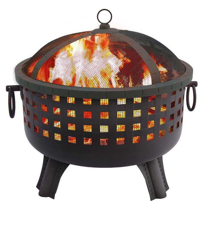Outdoor Fire Pit Steel Bowl Wood Burning Heater Light Screen Protector Backyard #fire,#pit,#garden,#yard,#patio,#set,#bbq,#outdoor,#wood,#burning,#bowl,#screen,#protector