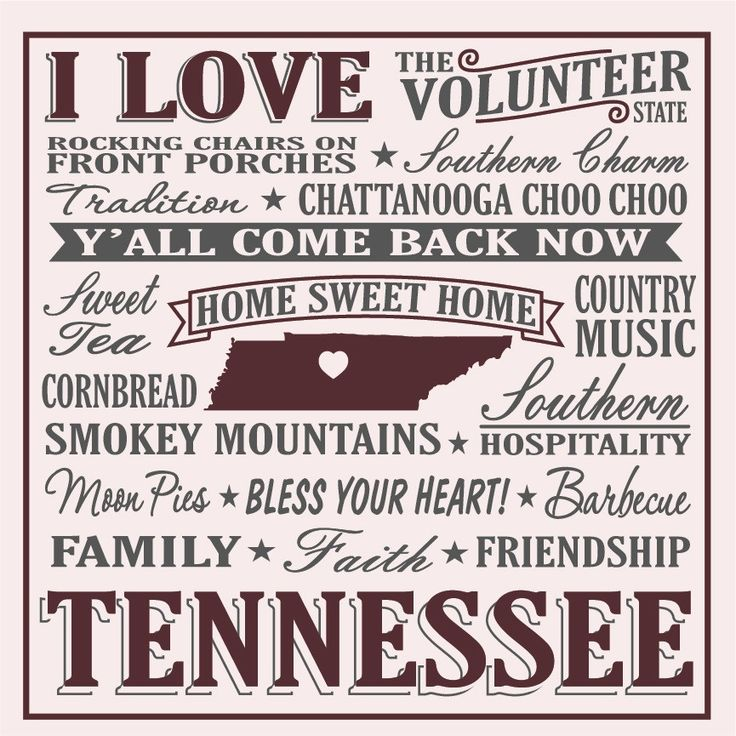 I Love Tennessee Sign