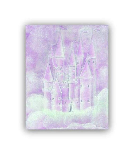 Princess Purple Castle Wall Art print Princess decor