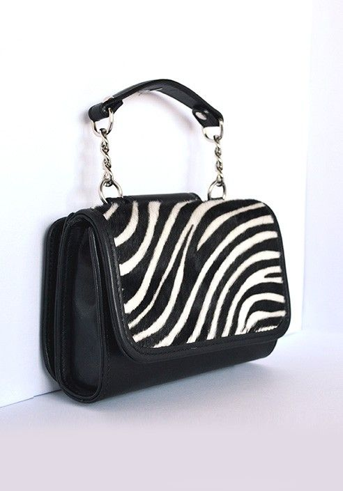 Pochette MiniME Safari white/black  MADE IN ITALY  Shop now on www.dezzy.it