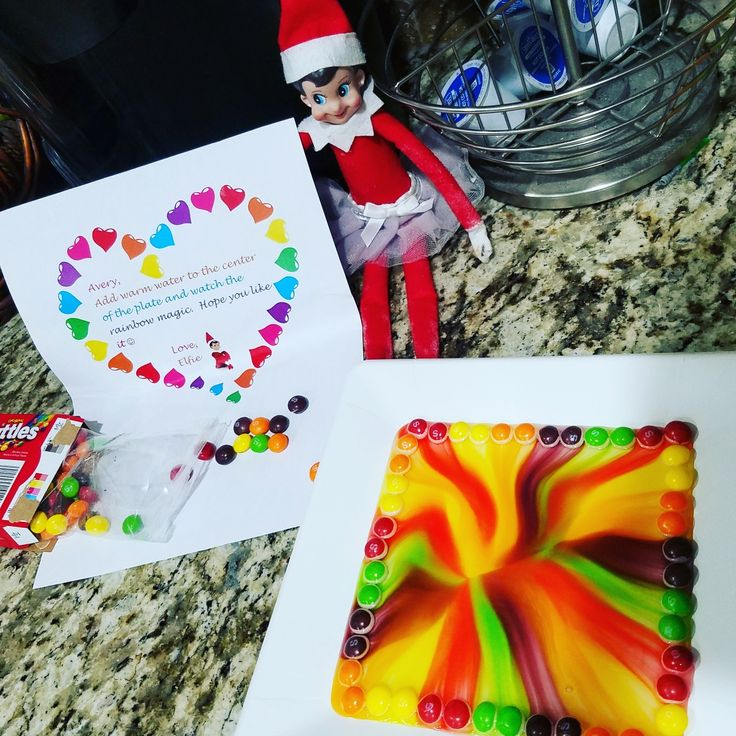 2017 Elf On The Shelf Day 11 Skittles Magic Rainbow
