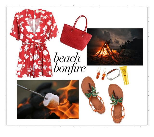 """fire summer"" by egaemgyu on Polyvore featuring Tory Burch, WithChic and Irene Neuwirth"