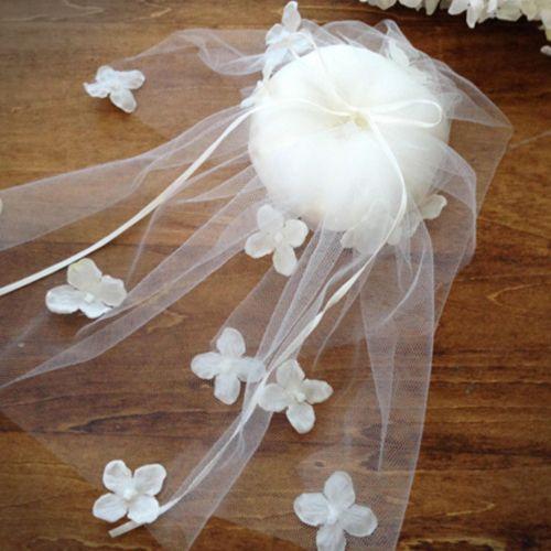 リングピロー〔小花ベール〕手作りキット 結婚式演出の手作りアイテム専門店B.G.