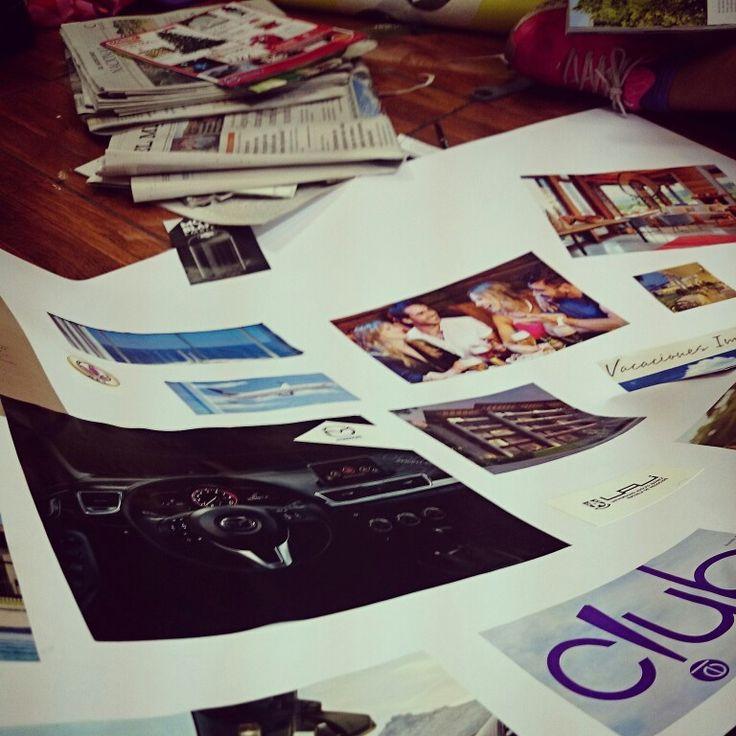 Construyendo mi mapa de los #sueños 2015 #proyecto #visualización #negocio #proyección #Herbalife #HLFRODRIGO