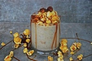 Caramel Corn Bourbon Milkshake: Beautiful Booze