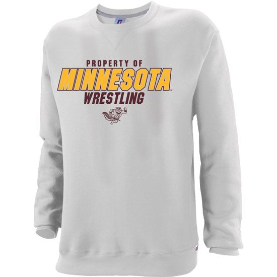 Russell Minnesota Wrestling Fleece Crew Sweatshirt