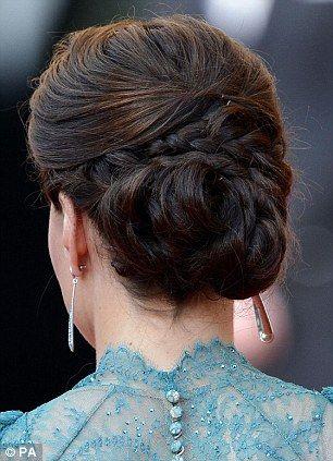 beautiful: Duchess Of Cambridge, The Duchess, Teal Dresses, Hairs Idea, Braids Updo, Weddings Hairs, Hairs Styles, Kate Middleton, Princesses Kate