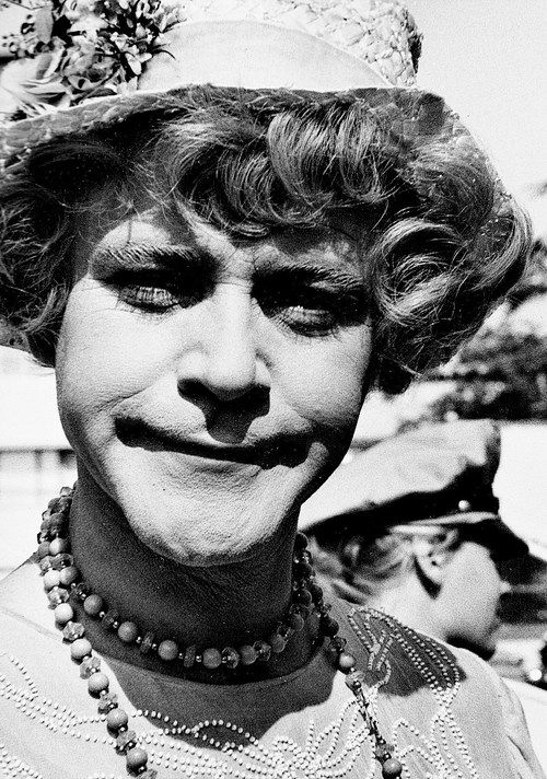 Jack Lemmon, dressed in drag as Daphne, on the set of Some Like It Hot, 1959.