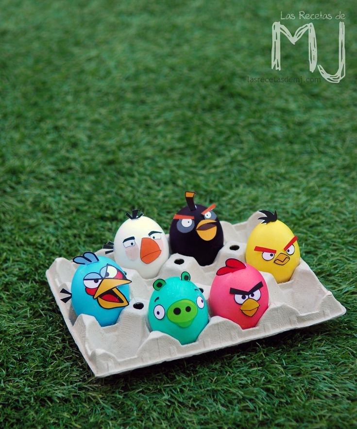 """Huevos de Pascua """"Angry Birds"""" / Easter eggs """"Angry Birds"""" - ¡qué bueno! XD"""