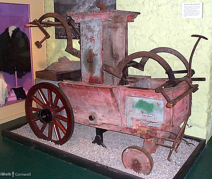 Fire Engine used at the Lanhydrock Fire, Bodmin Town Museum, Cornwall