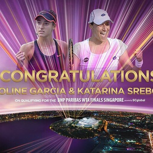 Caroline Garcia & Katarina Srebotnik are the 6th doubles team to qualify for #WTAFinals!