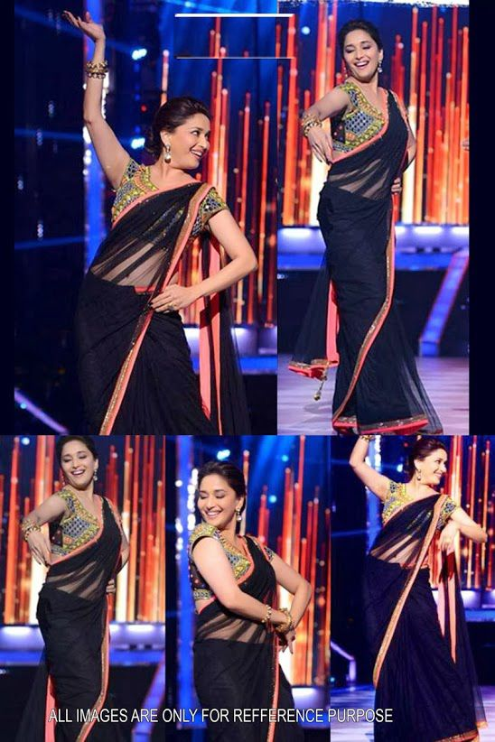 Acquire this beautiful Madhuri Dixit Jhalak Dikhhla Jaa Net Saree @only$95.26