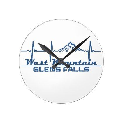 West Mountain  -  Glens Falls - New York Round Clock - fall decor diy customize special cyo