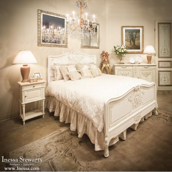 Antique Painted Furniture   French Regence Painted Queen Bed    www.inessa.com - 205 Best Painted Furniture, Antique And Vintage Images On