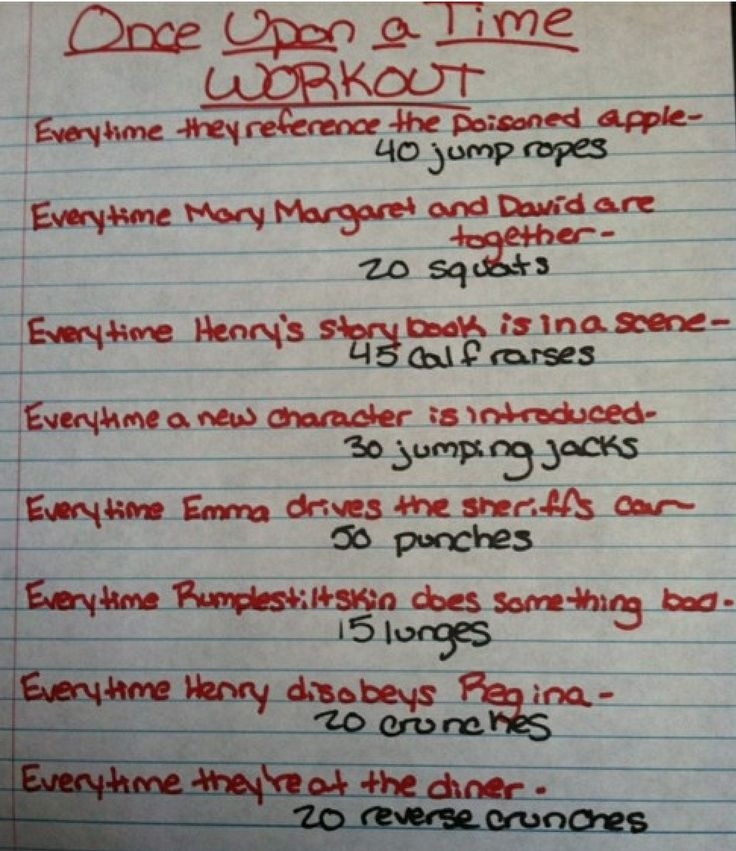 Ounce upon a Time workouts