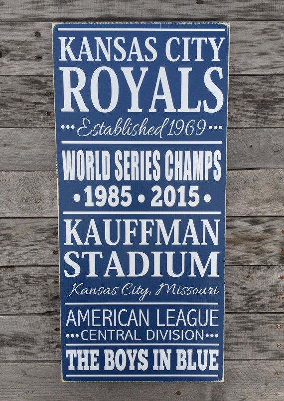 NEW Kansas City Royals Baseball Subway Style by BasementWorkshop1