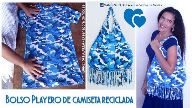 Aprende con SANDRA PADILLA : Bolso Playero - de Camiseta Reciclada