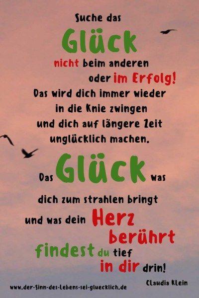Sprüche und Zitate: #Sprüche #Zitate #Worte #Glück #Leben #Erfolg