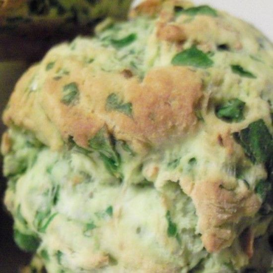 Your Inspiration at Home Spinach Damper. #YIAH #spinach #sidedish