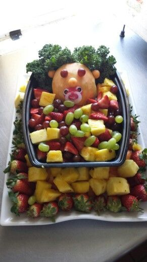 fruit tray for baby shower baby shower ideas pinterest