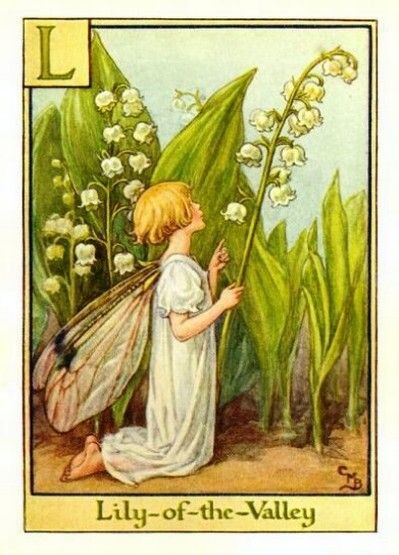 "Cicely Mary Barker - Lily-of-the-Valley Flower Fairy (First published in ""A Flower Fairy Alphabet"", London, Blackie, 1934)"