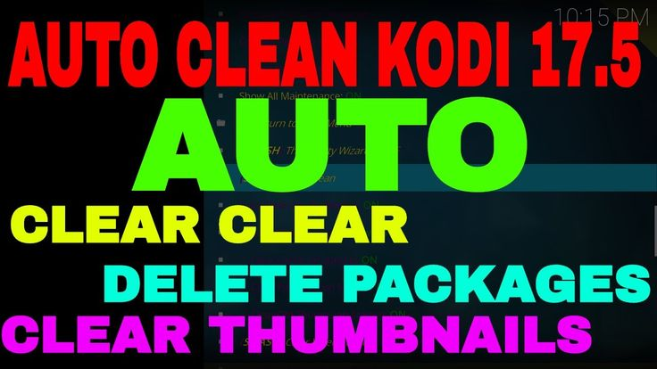 KODI KRYPTON 17.5 HOW TO AUTO CLEAR CACHE AUTO DELETE PACKAGES & AUTO CL...