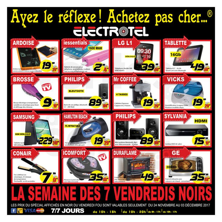 Méga solde Vendredi Fou chez Électrotel | lesventes.ca