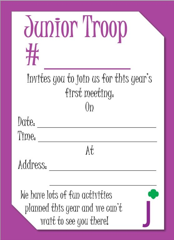 Junior Meeting Invitation