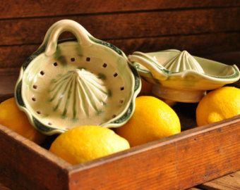 Citrus Juicer Pottery Citrus Reamer Hand by DirtKickerPottery