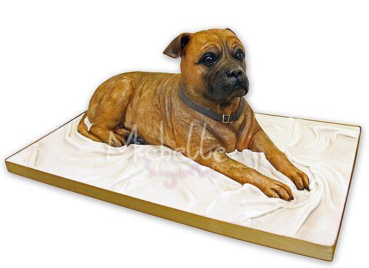 Bull Mastiff Dog Cake | Michelle Sugar Art