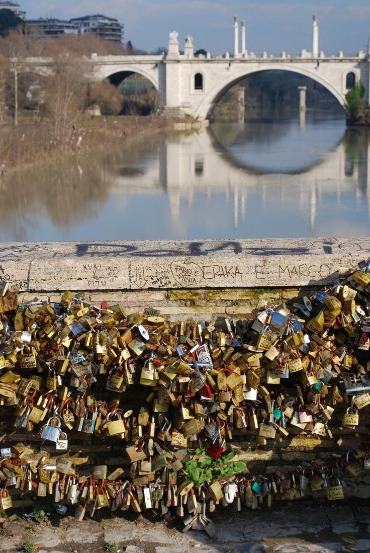 Romantic bridges in Rome - Ponte Milvio by jonworth-eu on Flickr