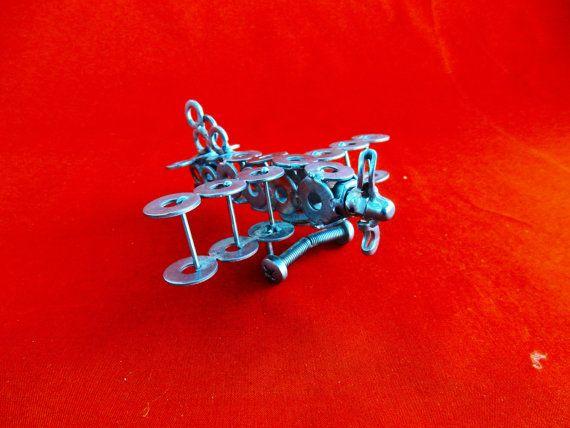 aereo scultura aereo  airplane regalo aviazione di stevieacciaio