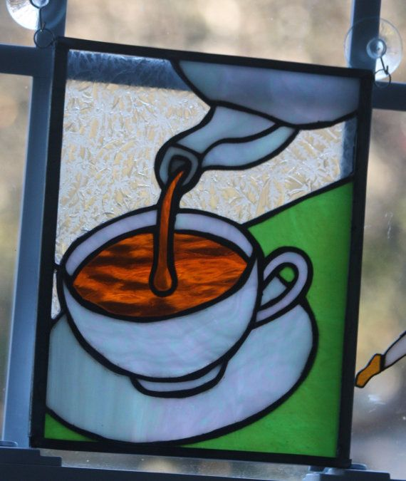Stained Glass Coffee Cup and or Teacup