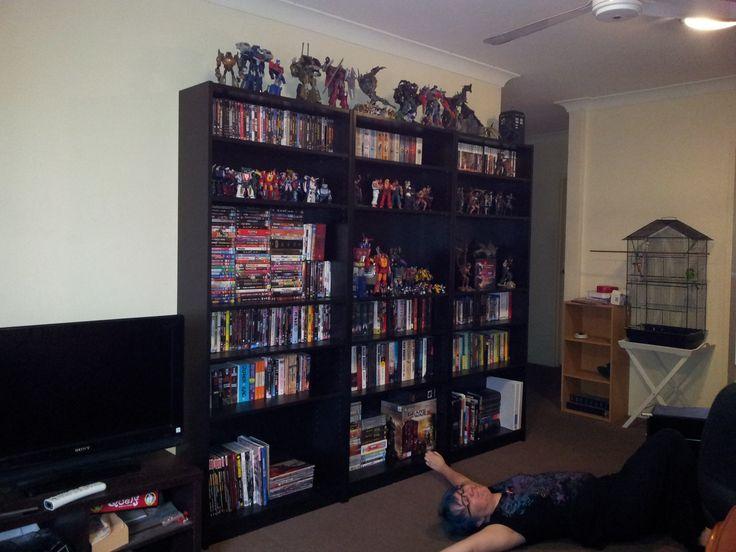 Man Cave Shelving Ideas : I love the shelf idea newshelves g man