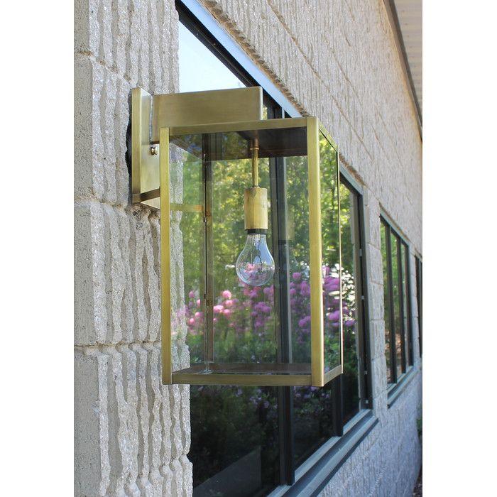 Brass Traditions 4500 Series 1-Light Outdoor Wall Lantern & Reviews | Wayfair