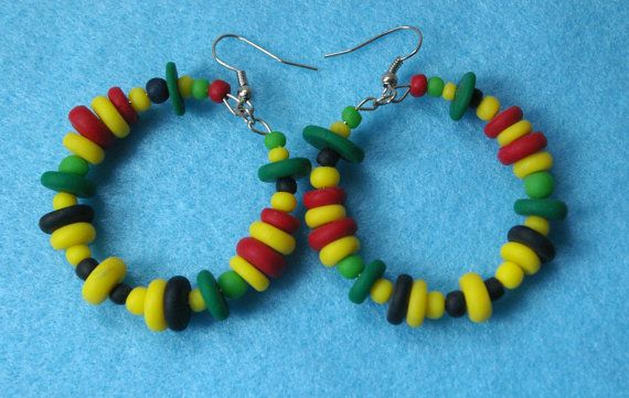 Polymer clay abstract earrings hand made by Inspiration2Art, $12.99