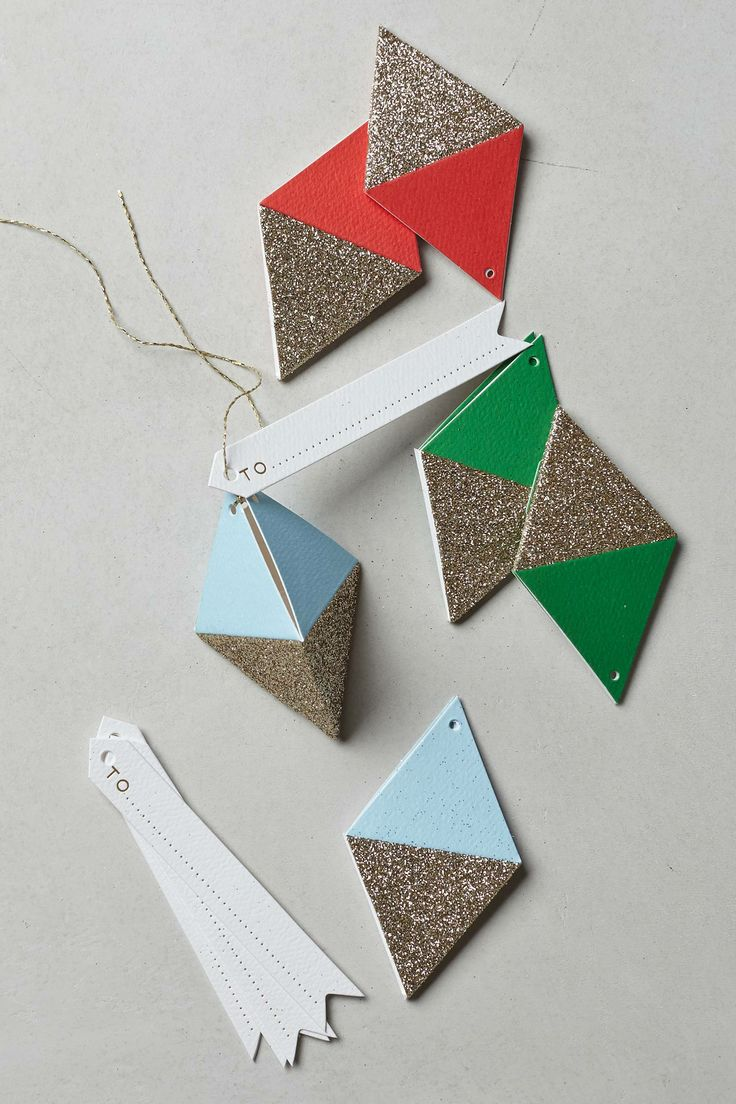 Glitter Diamond Gift Tags - anthropologie.com
