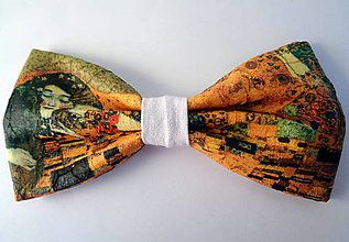 Klimtov bozk / Handmade bowtie