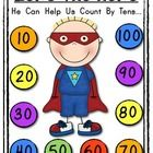 ZERO THE HERO: Counting By Tens!  You are receiving: *1 - colored sheet that can be enlarged to a classroom poster! (or print 8 1/2 X 11)  *1 - bla...