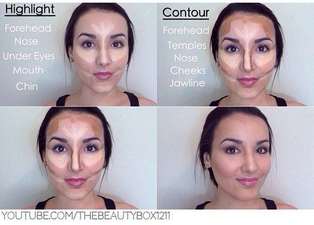 Contouring: not just for celebrities. | 21 Beauty Tricks For Makeup Addicts In Training