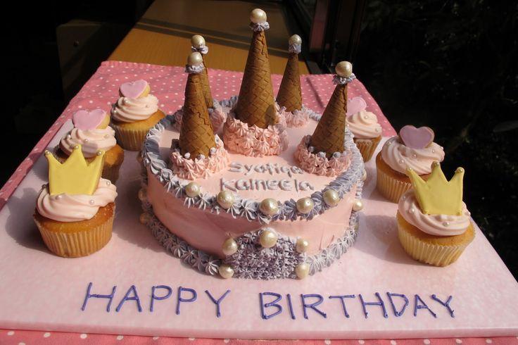 pincess dress cakes   Princess Castle Cake for a little girls's birthday.