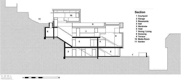 Красивый современный дом на крутом склоне-29