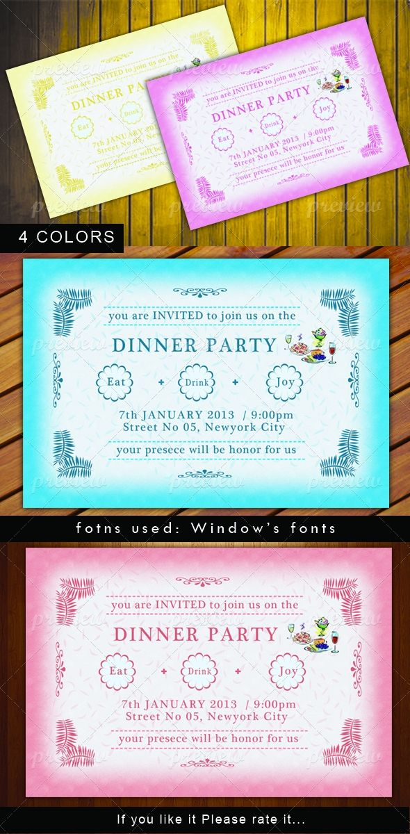 28 best dinner party invitations images on pinterest dinner dinner party invitation cards stopboris Image collections