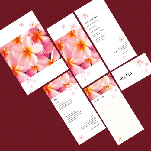 Frangipani Wedding Stationery