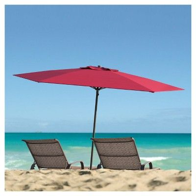UV and Wind Resistant Beach/Patio Umbrella - Red - CorLiving