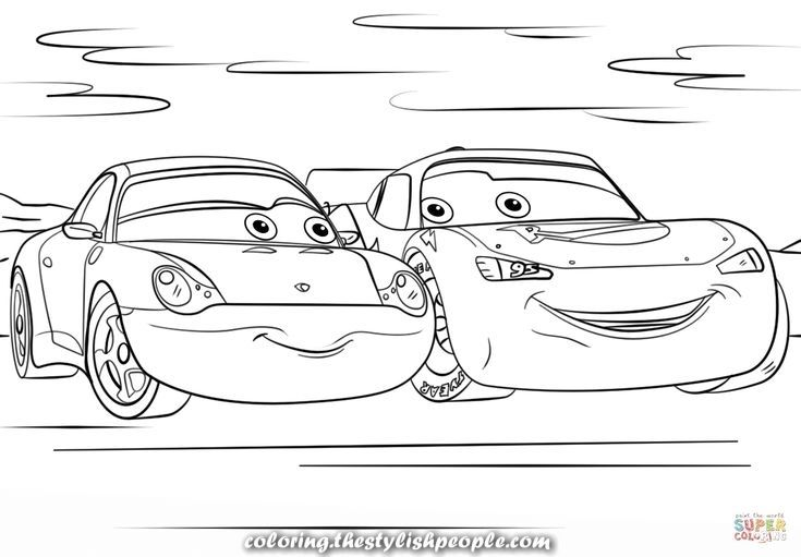 Beautiful Coloring Lightning Mcqueen And Sally Of Automobiles 3 Free Coloring To Print Cars Coloring Pages Coloring Pages Disney Coloring Pages