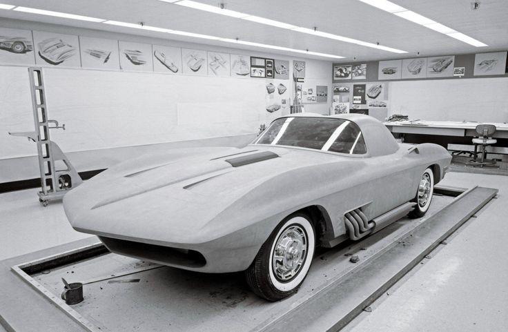 An early clay Corvette Stingray model