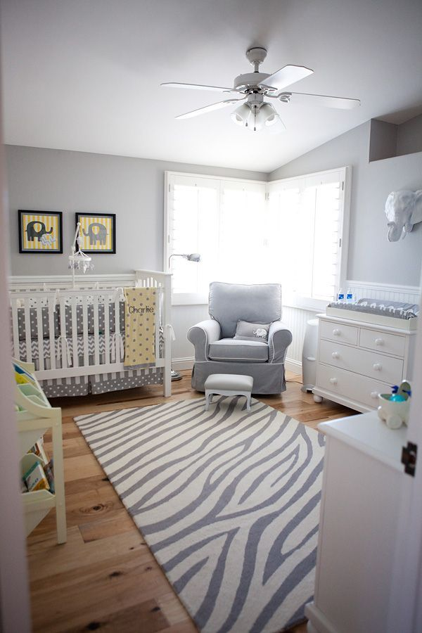 Bright and Colorful Jonathan Adler Inspired Home Beautiful and sophisticated gray and white nursery