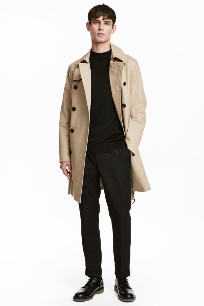 cfc710f58b75d Trench-coat court in 2019 | Man style | Coat, Tailored coat