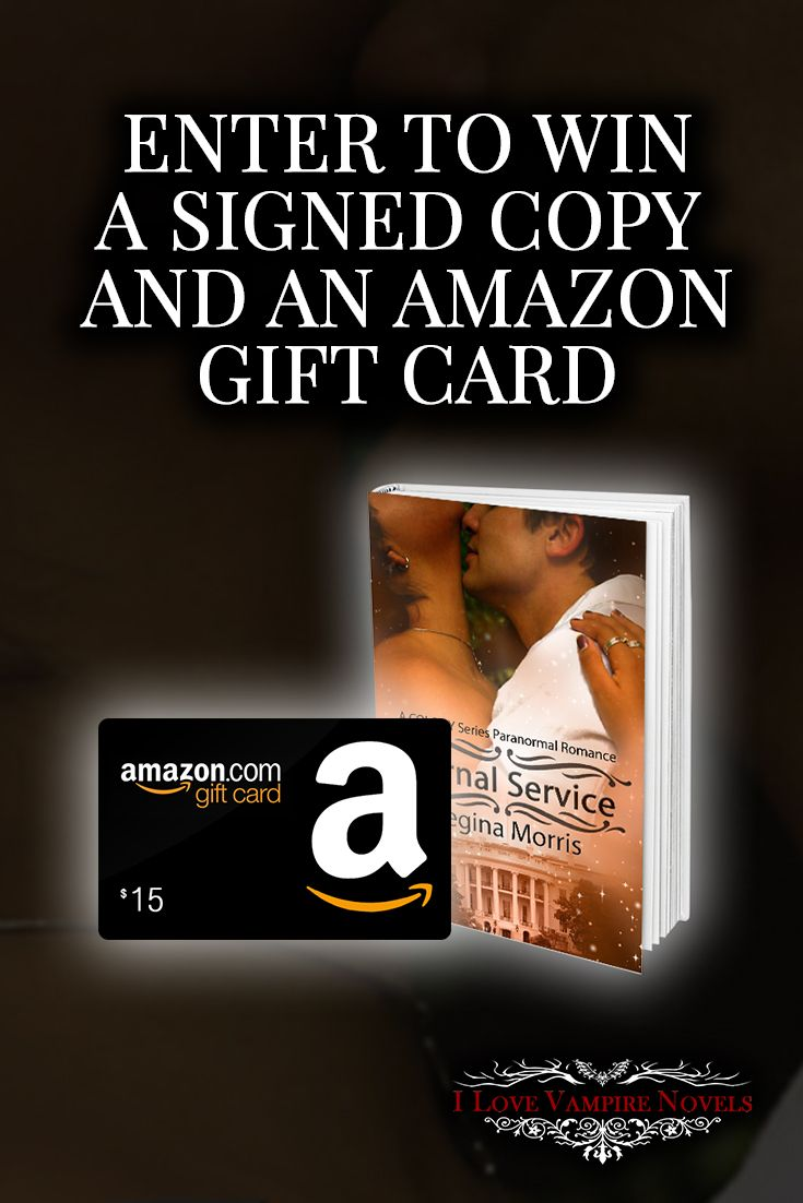 Win a $15 Amazon Gift Card and Signed Paperback from Bestselling Author Regina Morris http://ilovevampirenovels.com/giveaways/win-15-amazon-gift-card-regina-morris/?lucky=415556